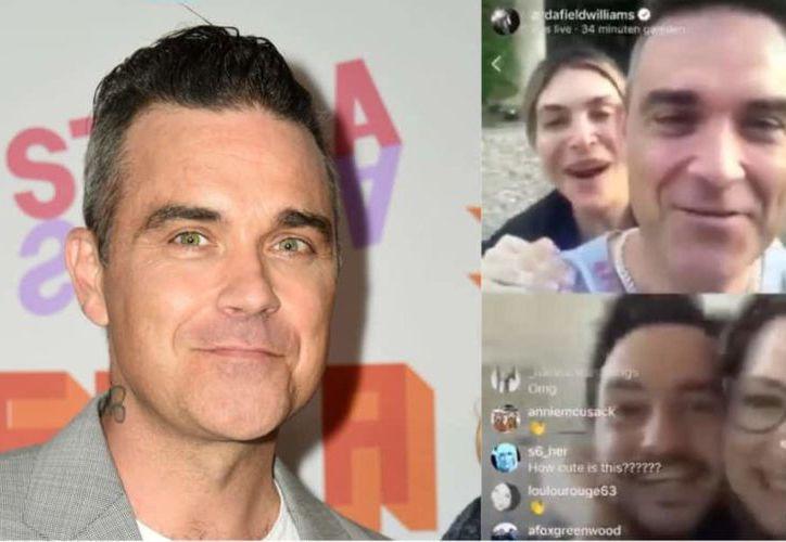 El cantante Robbie Williams celebró la proposición e incluso les prometió una canción de boda especial. (Captura de pantalla)