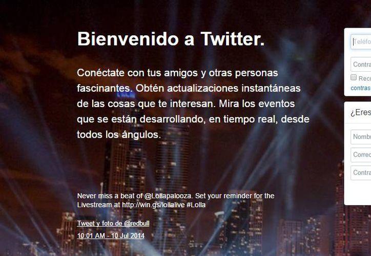Con los nuevos límites se ayuda a mejorar el funcionamiento y fiabilidad del sitio, y con ello hacer de Twitter un lugar agradable para todos. (Captura de pantalla de la portada de Twitter)