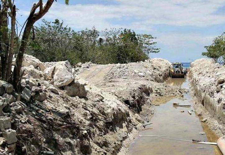 El sistema de drenaje pluvial de la zona hotelera Norte facilitó el desalojo de las aguas pluviales. (Redacción/SIPSE)