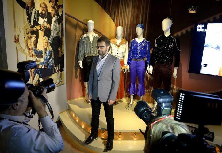 El ex integrante del grupo ABBA Bjorn Ulvaeus posa para un retrato durante un recorrido de prensa por el Museo ABBA, en el Salón de la Fama de la Música Sueca en Estocolmo. (Agencias)