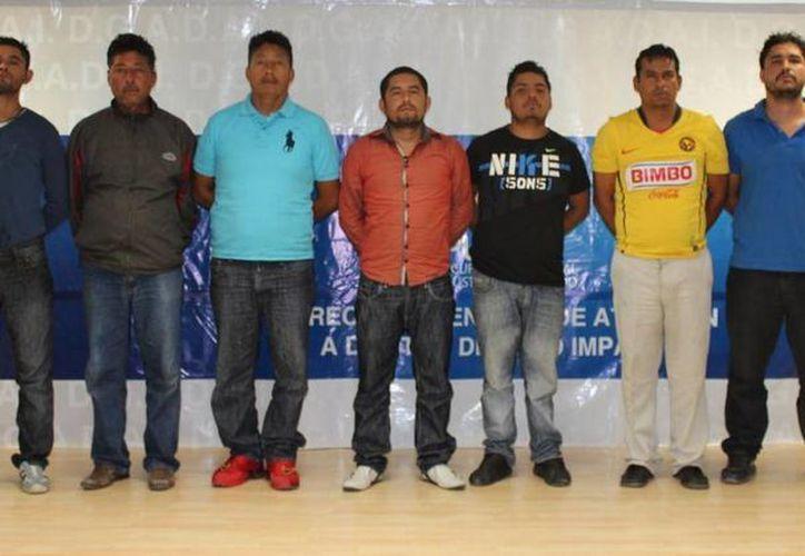 La Procuraduría de Puebla detuvo a siete de los integrantes de 'La Banda de El Disco' o 'La Banda del Chaparro'. (pueblanoticias.com.mx)