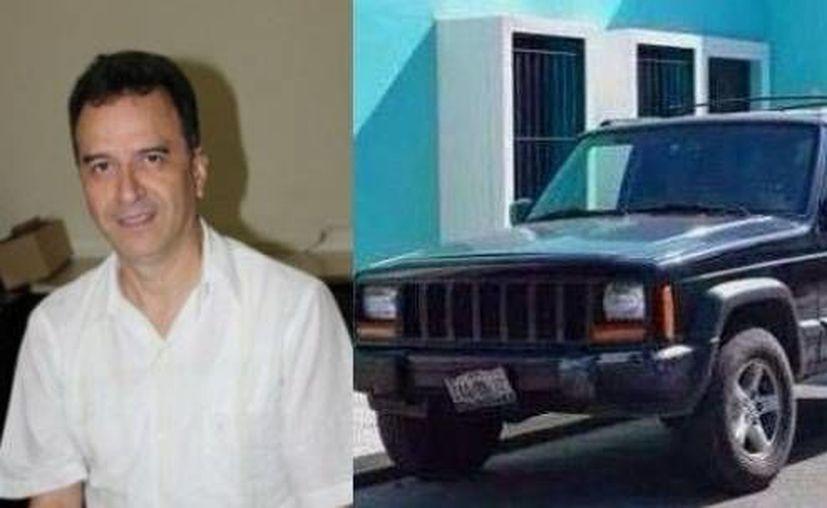 El cuerpo de Luis Fernando Luna Guarneros fue entregado a sus familiares este sábado. A un lado, el vehículo Jeep Cherokee en el que por última vez se le vio con vida. (Foto: Luis Boffil, tomada de jornada.unam.mx)