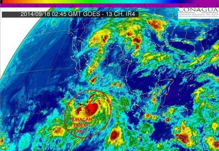 El fenómeno presenta vientos fuertes y alto oleaje en las costas de Guerrero y Oaxaca. (Twitter.com/@conagua_clima)