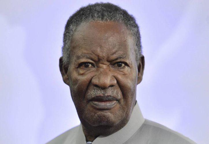 Fotografía de archivo del ahora fallecido presidente de Zambia, Michael Chilufya Sata, en la Cumbre de Jefes de Estado en Bruselas, Bélgica, el 2 de abril de 2014. (EFE)