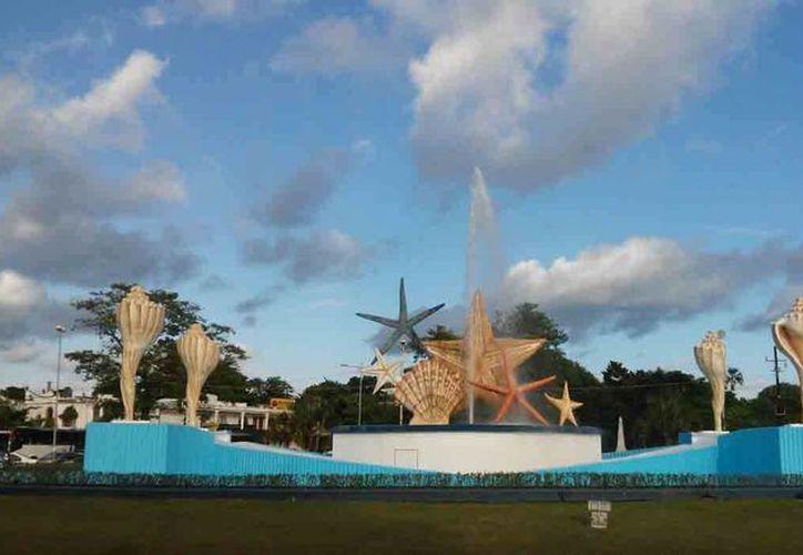 La fuente de 'El Ceviche' forma parte del inventario del primer cuadro de la ciudad. (Sheila Cetina/SIPSE)