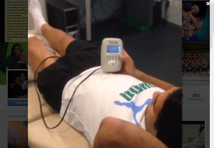Falcao además de la fisioterapia, realiza terapia con oxígeno hiperbárico para ayudar a la cicatrización. (Falcao/Instagram)