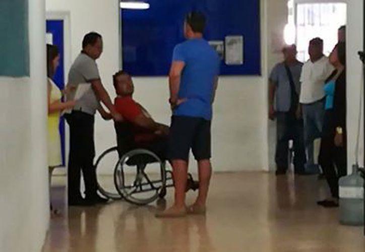 #LordRusoNazi de regreso al Hospital General. (Eric Galindo/ SIPSE)