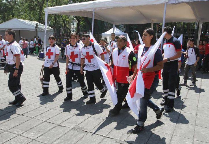 La Cruz Roja Mexicana espera recaudar unos 350 millones de pesos durante la actual Colecta Nacional. (Notimex)