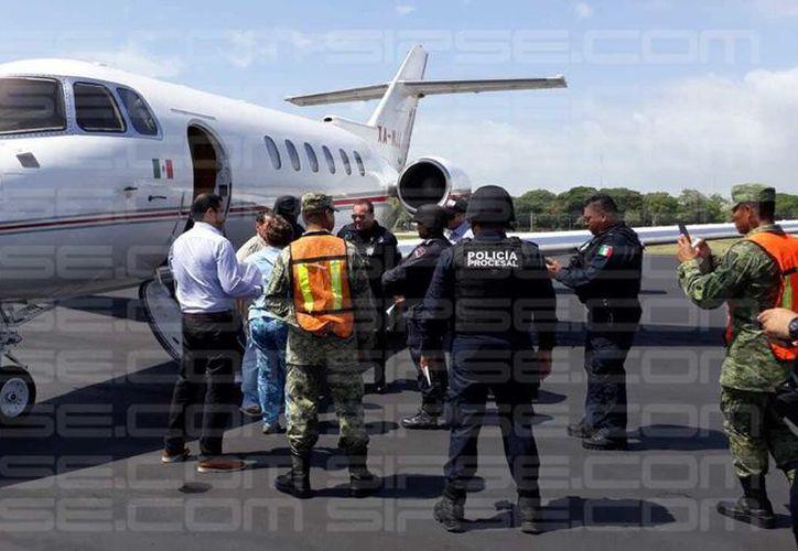 El ex mandatario fue trasladado desde Morelos, hasta Chetumal. (Enrique Mena)
