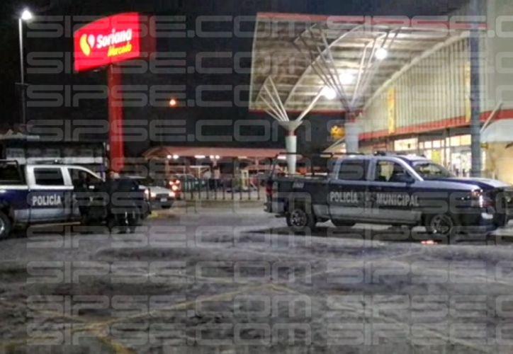 Noche de atraco en la Región 233. (Foto: SIPSE)