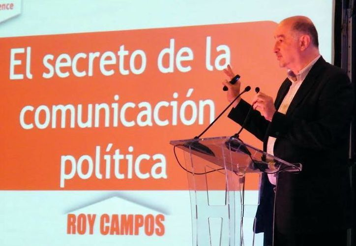 Roy Campos, uno de los ponentes en el Seminario de Marketing Electoral. (SIPSE)