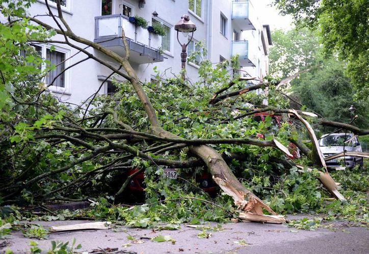 Una tormenta ha puesto de cabeza el norte de Alemania, con saldo incluso de muertos. En la foto, Gelsenkirchen. (Foto: AP)