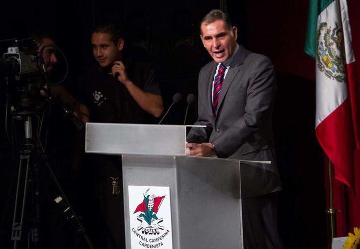 Gabino Cué dijo confiar en que no habrá radicalización del movimiento magisterial. (Notimex)