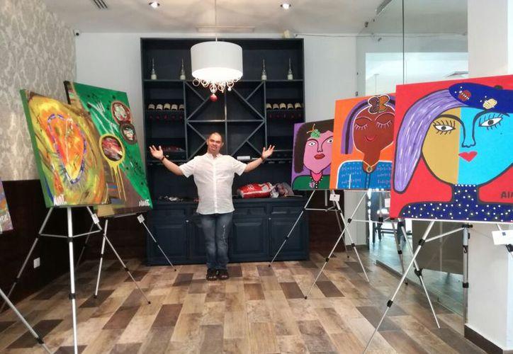 Alan Téllez es un artista de Veracruz. (Daniel Pacheco/SIPSE).