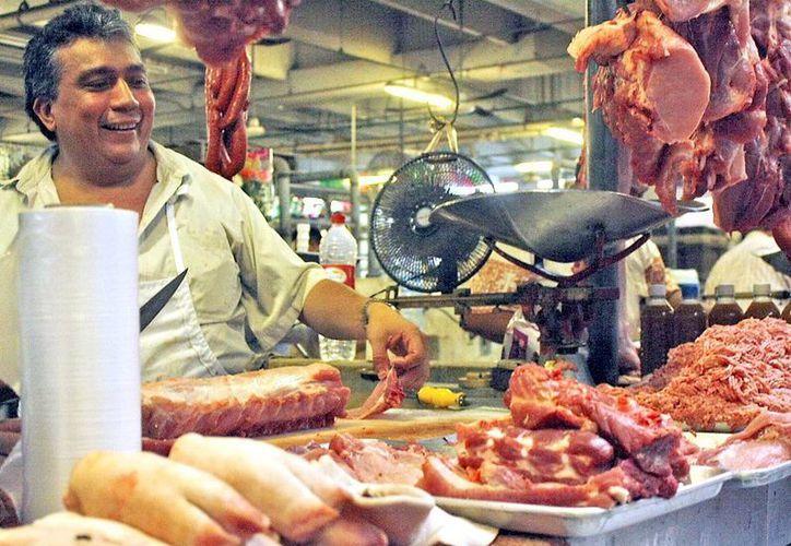 En algunos casos los  porcicultores se han visto obligados a rematar las pieza de cerdo. (SIPSE)