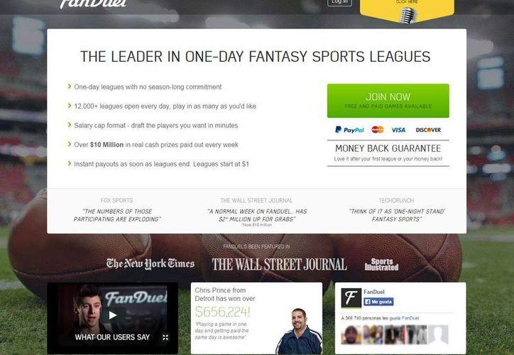 FanDuel es el mayor sitio web de 'fantasy'. (fanduel.com)
