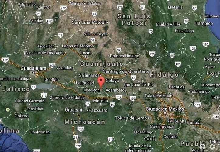 El secretario de Seguridad Pública del Estado, Alvar Cabeza de Vaca, informó sobre el secuestro frustrado en Uriangato, Guanajuato. (Google Maps)