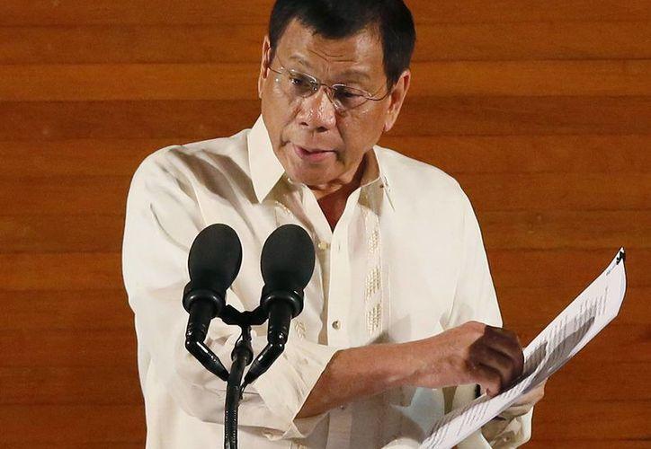 Duterte ha realizado una campaña para acabar con el crimen y la droga. (AP/Bullit Marquez)