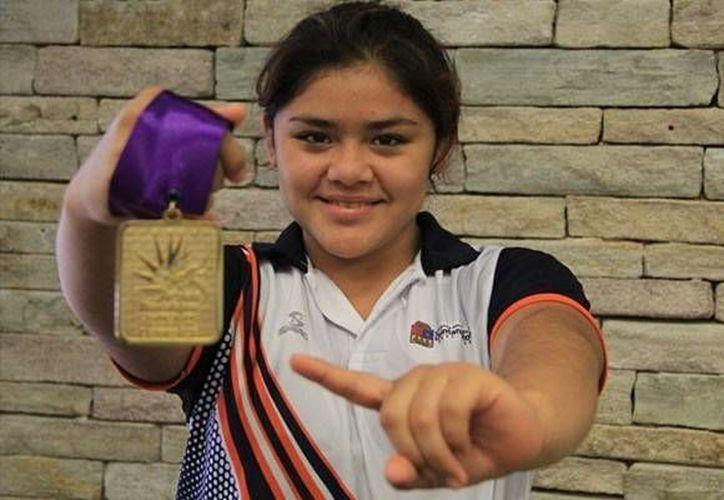 Fátima Crisanto Ayil es la mejor atleta dentro de las Luchas Asociadas en el país. (Miguel Maldonado/SIPSE)
