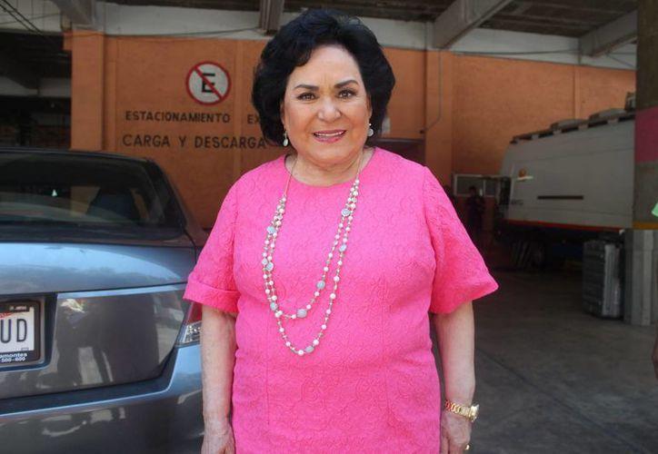 Carmen Salinas participa en la telenovela 'Mi corazón es tuyo'. (Notimex)