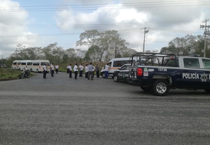 Los hechos ocurrieron justo en la entrada de la alcaldía de Javier Rojo Gómez. (Carlos Castillo/SIPSE)