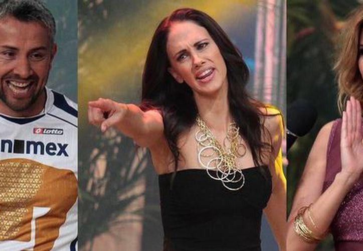 De i a d: el luchador Intocable, el exguardameta Sergio Bernal, la presentadora Ana La Salvia y la cantante Karla Díaz, entre los famosos que formarán parte del elenco del programa La Isla 2015. (Notimex)