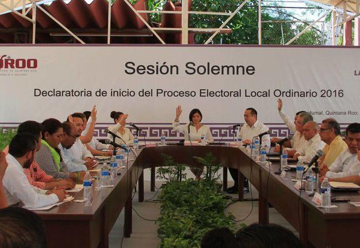 En Sesión Solemne, se llevó a cabo la declaratoria de inicio del proceso electoral. (Ángel Castilla/SIPSE)