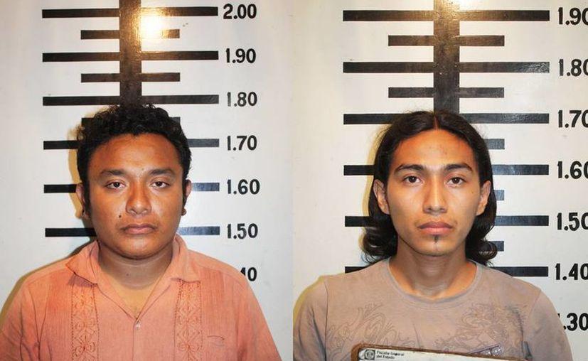 Ismael Alejandro González Caamal y Ricardo Esteban Zaldívar Campos. (Milenio Novedades)