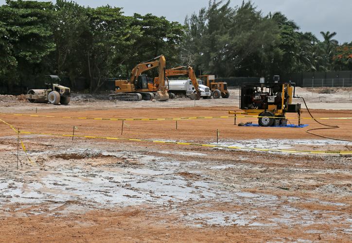 Los trabajos de construcción del centro de hospedaje en Playa Langosta fueron clausurados por parte de la Profepa, esto debido a una orden del Juzgado Quinto de Distrito. (Jesús Tijerina/SIPSE)