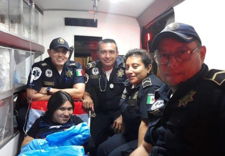La mujer ya tenía los típicos dolores de parto y no pudo llegar al nosocomio. (Novedades Yucatán)
