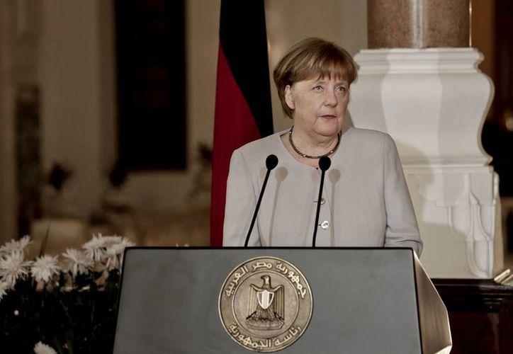 Será la segunda vez que Angela Merkel y el presidente Trump sostengan una reunión. (AP/Nariman El-Mofty)
