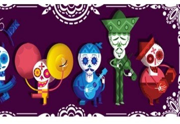 """Google rindió su propio """"culto"""" a los muertos en México con su """"doodle"""" de hoy. (SIPSE)"""