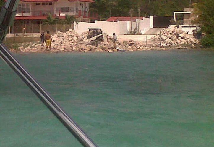 A pesar de que fotografías confirmaban la alteración de la zona, la Profepa no actuó. (Javier Ortiz/SIPSE)