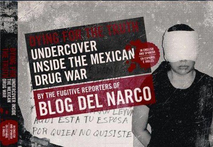 Portada del libro, editado por 'Lucy', que recoge información de la violencia del narco. (nortedigital.mx)
