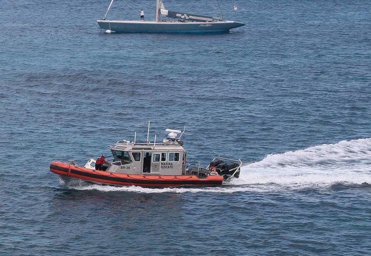 El reporte de auxilio fue realizado por un yate de recreo informando que la lancha estaba a la deriva. (Milenio Novedades)