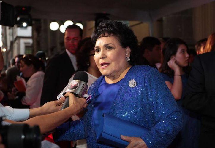 Carmen Salinas confiesa que pidió ayuda a la Presidencia de la República y la Regencia del DF para salvar al teatro Blanquita cuando iba a ser demolido. (Archivo Notimex)