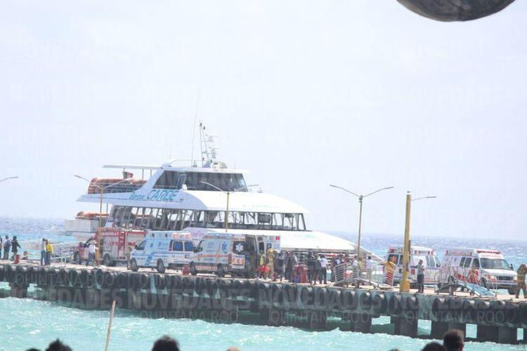 Explota ferri en Playa del Carmen; deja al menos 13 lesionados