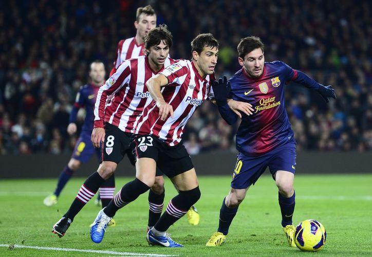 Messi consiguió su 11er doblete de la temporada. (Agencias)