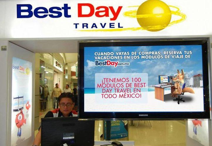 La agencia de viajes Best Day tiene créditos turísticos con institución bancaria nacional. (Redacción/SIPSE)