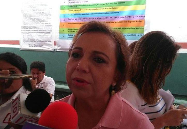 Alicia Ricalde, aspirante a la presidencia municipal de Isla Mujeres se dijo satisfecha con la participación ciudadana en la jornada electoral. (Redacción/SIPSE)