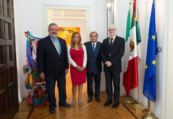 Funcionarios estatales, diplomáticos de Yucatán y de Italia que se reunieron con el objetivo de estrechar los esquemas de colaboración científica. (Milenio Novedades)