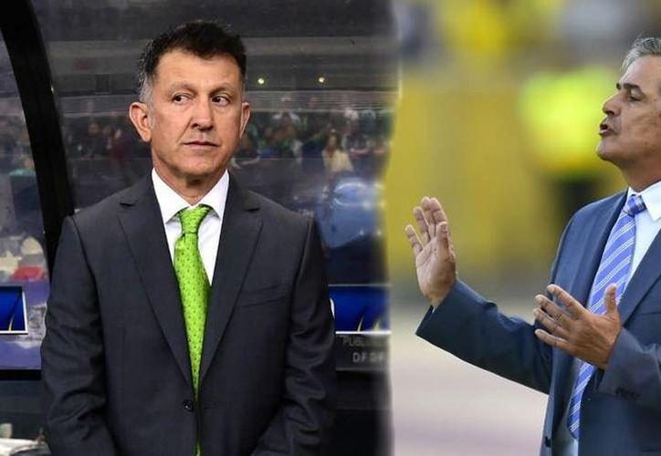 Jorge Luis Pinto (d) y Juan Carlos Osorio, un duelo disparejo donde el 'catracho' lleva ventaja sobre el 'mexicano'. (rcnradio.com)