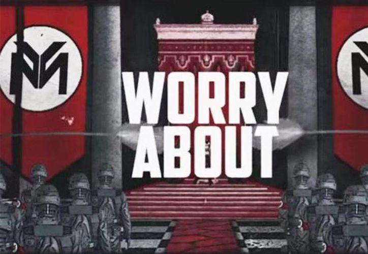 Así luce el nuevo video de Minaj en donde usa simbología nazi. (Milenio)
