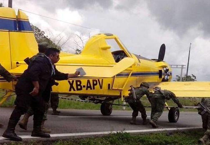 La avioneta que era utilizada para fumigar partió de Culiacán con destino a Tapachula, pero se accidentó. (radioformula.com.mx)