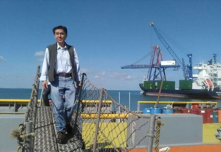 El Dr. Jaime Urrutia Fucugauchi, líder de la Misión 364, poco antes de partir a la plataforma Myrtle. (Cecilia Ricárdez/Milenio Novedades)