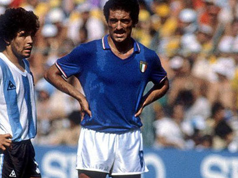 Claudio Gentile, junto al Pibe de Oro, Maradona (Foto: marca)