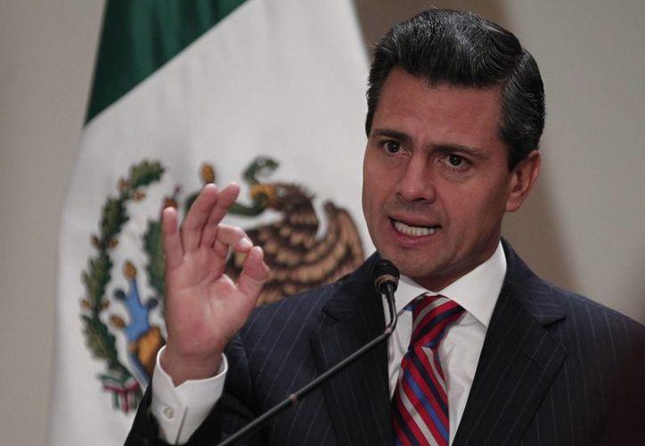 El presidente de México, reconoció el trabajo de los Senadores, quienes aprobaron las reformas. (Agencias)