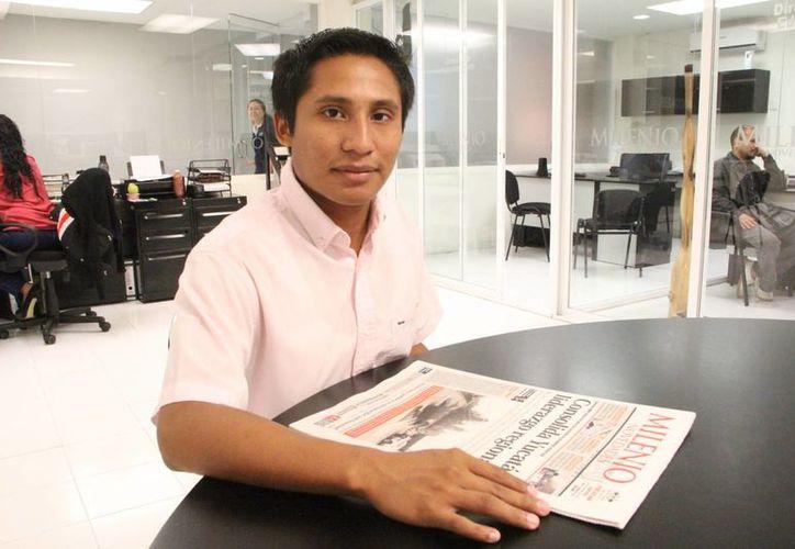 """""""Siempre me gustó trabajar con niños y jóvenes porque tienes la oportunidad de incidir no sólo a corto plazo, sino en su futuro, y así aportamos a un cambio en la sociedad"""", dijo Gabriel Alberto Cen Puerto. (Milenio Novedades)"""