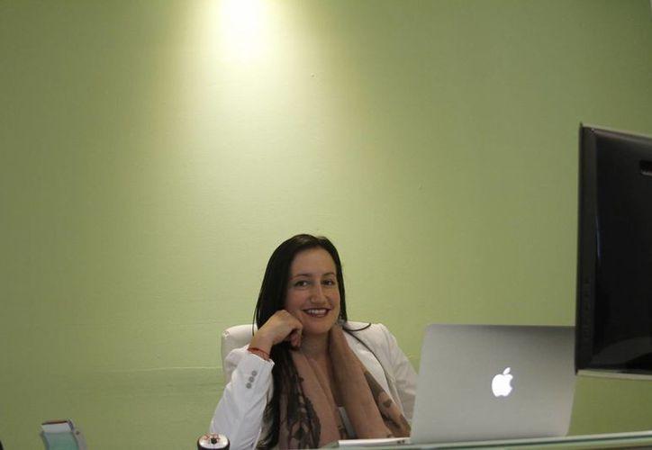 Angélica Frías, mercadóloga y socia fundadora del software. (Israel Leal/SIPSE)