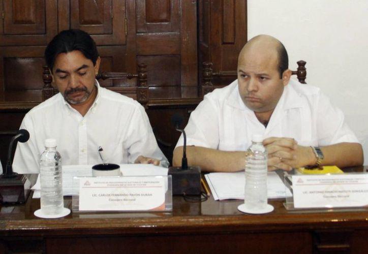 Los consejeros Carlos Pavón Durán y Antonio Matute, en la lista. (Milenio Novedades)